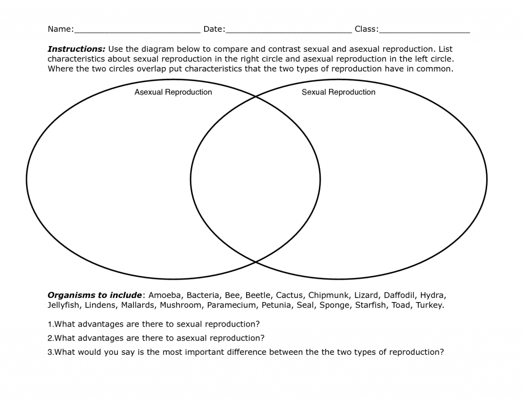 October 2013 – Asexual Vs Sexual Reproduction Worksheet